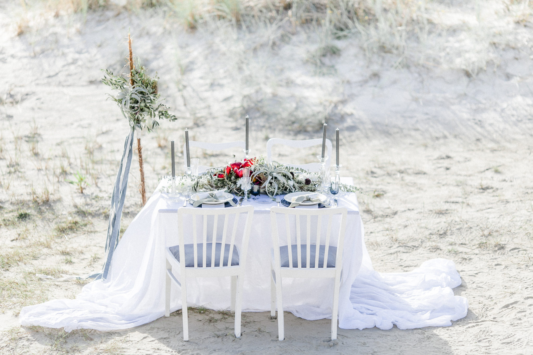 Fine art wedding table