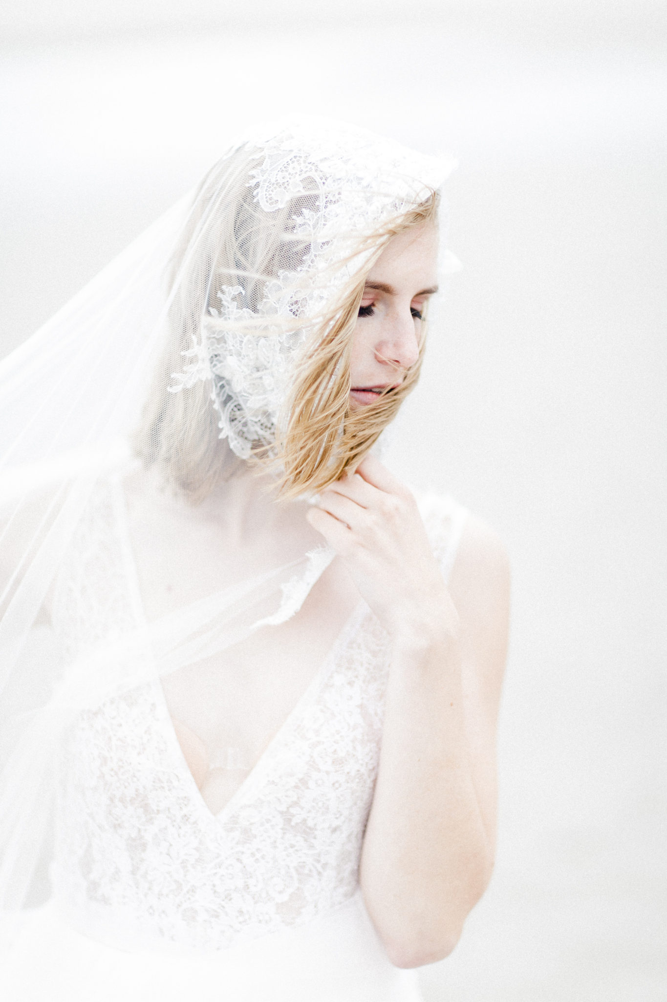 Fine art wedding veil