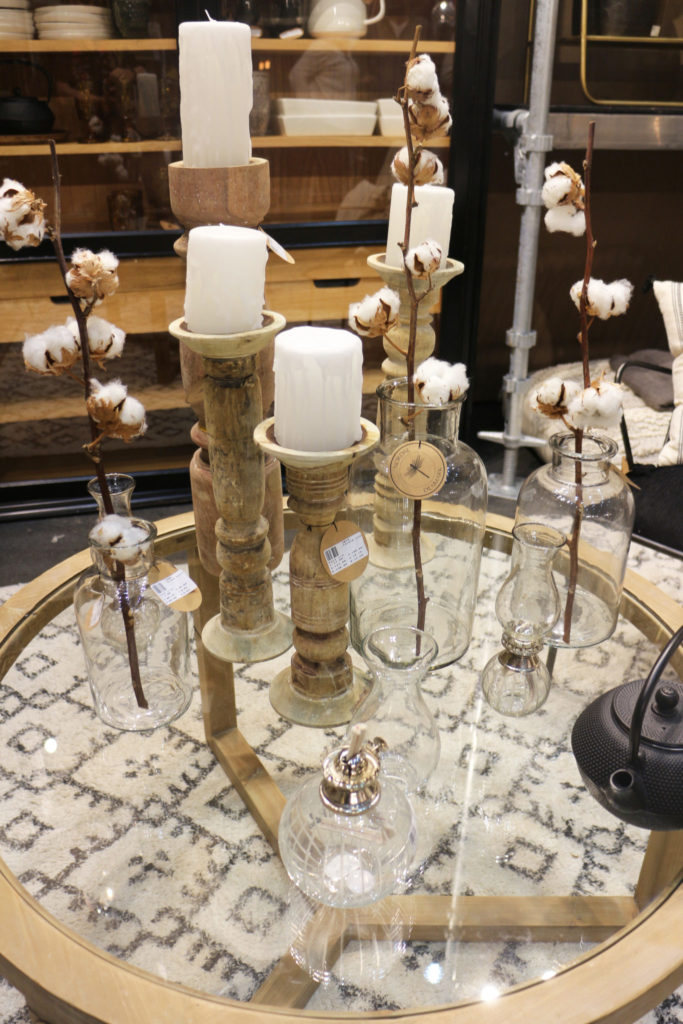 Cotton and candlesticks