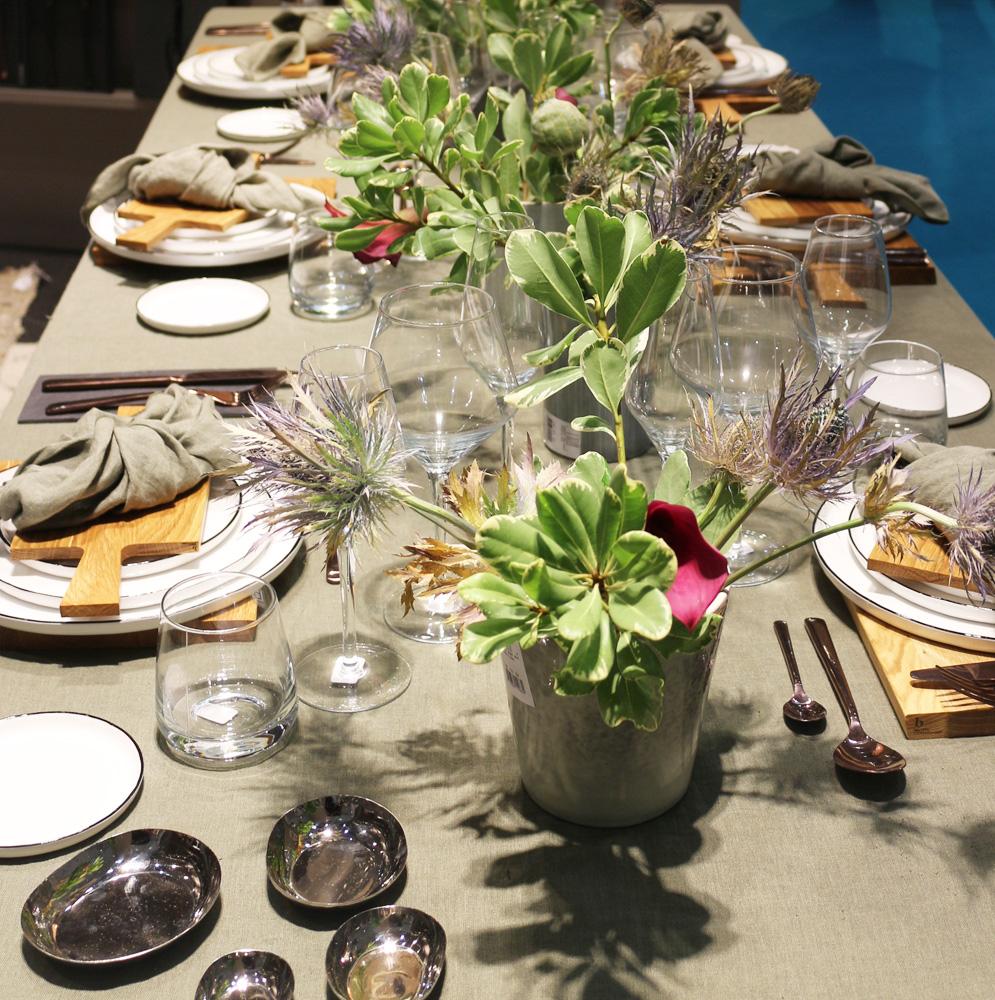Earty table setup