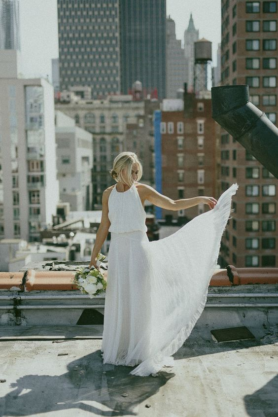 urban chic wedding bridal look