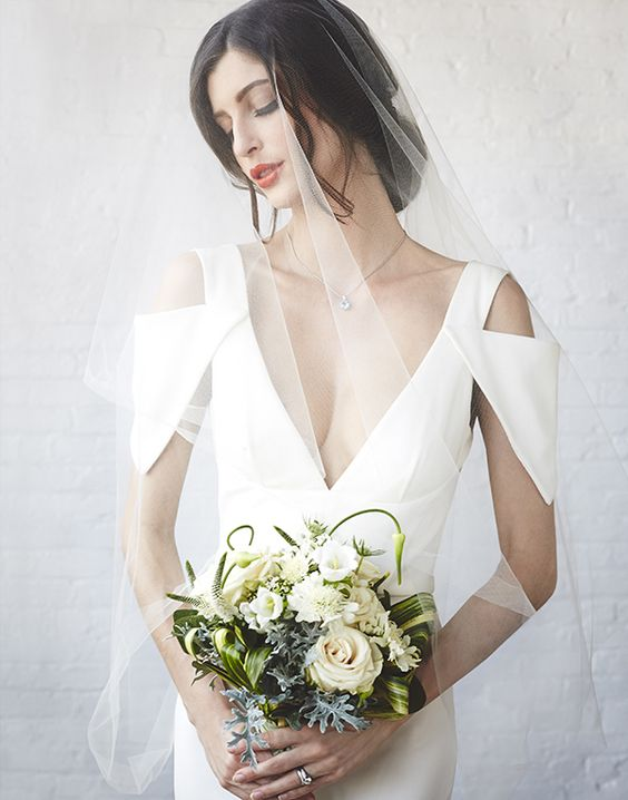 urban chic bridal look