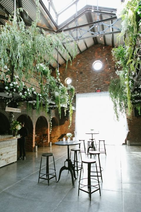 urban chic wedding venue industrial plants