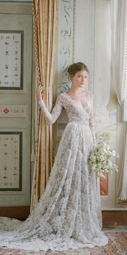 vintage bridal look with lace