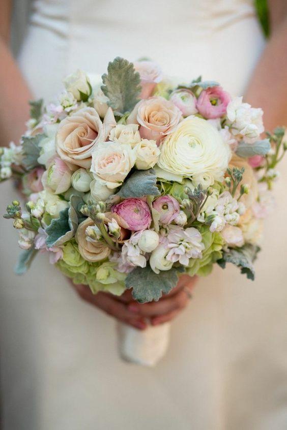 vintage colors bridal bouquet