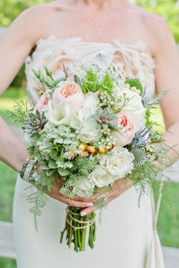 rustic wedding bridal bouquet