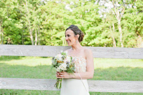 rustic wedding bridal look