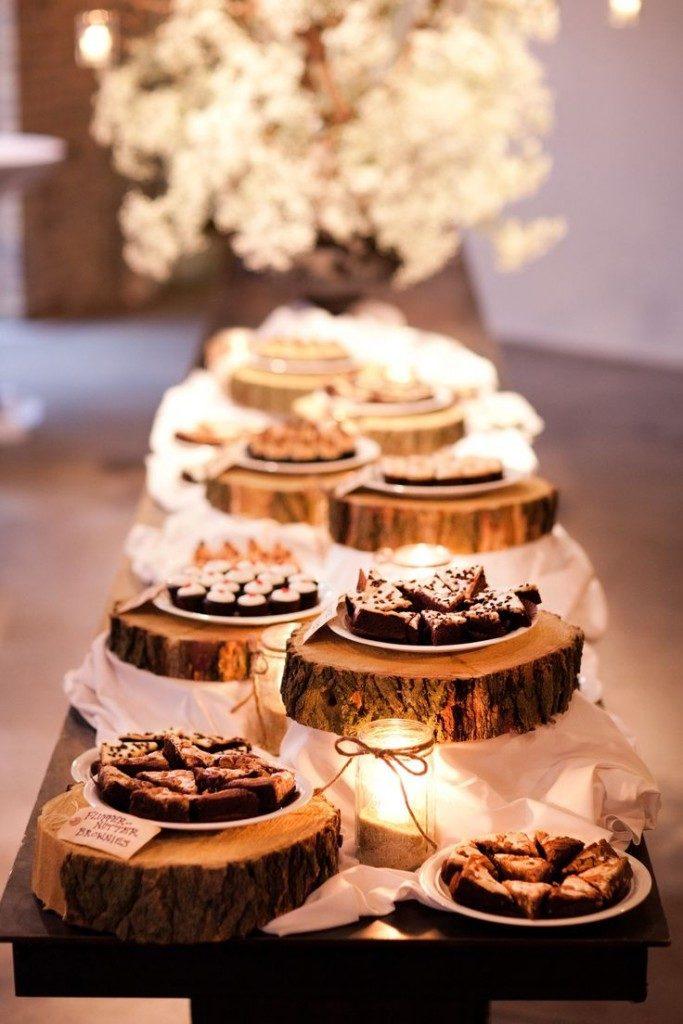 rustic wedding wodden disks