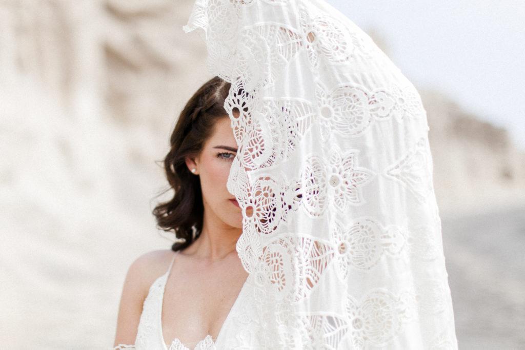 bride, wedding at a beach, boho bride