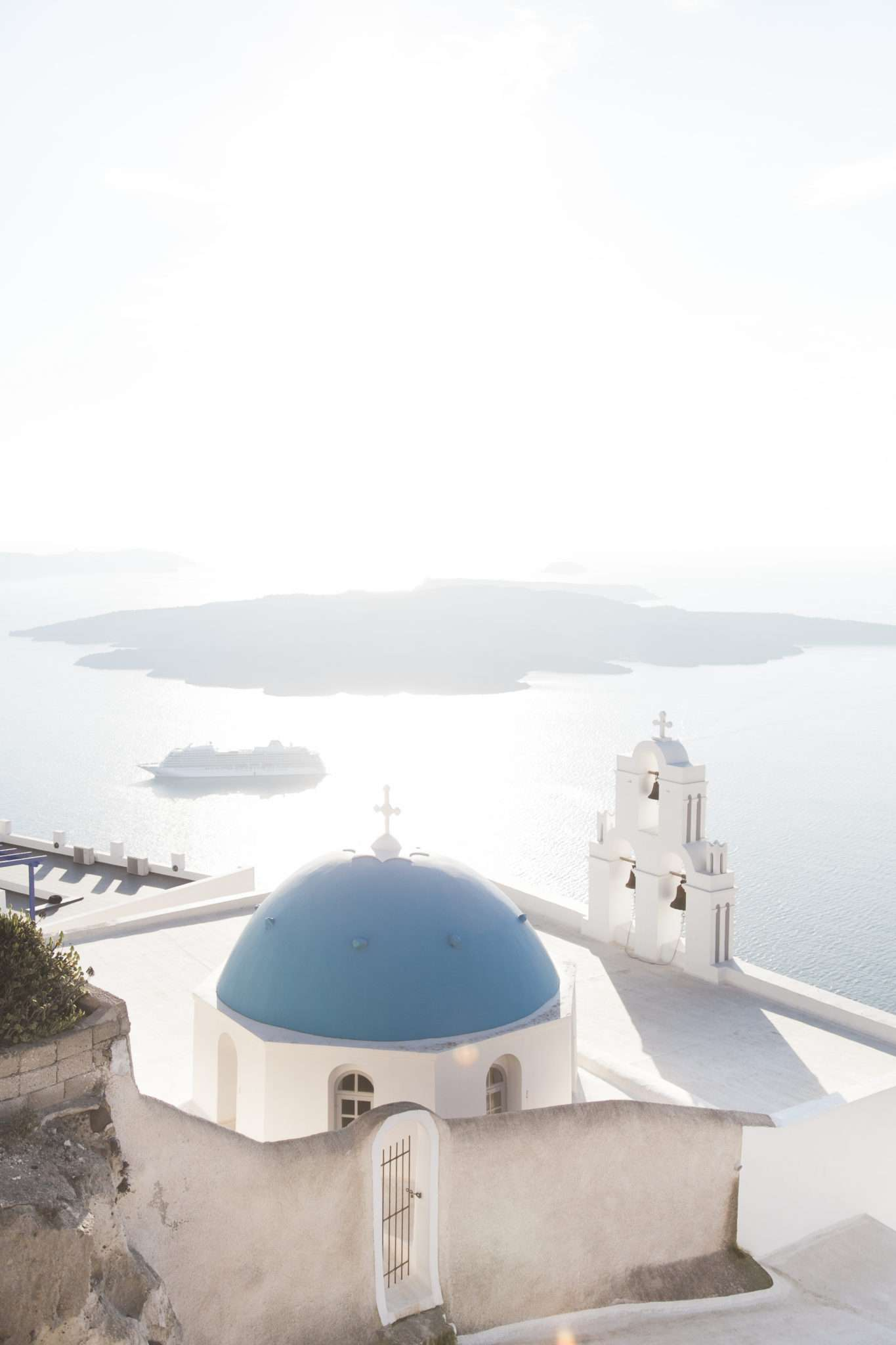 santorini white and blue landscape