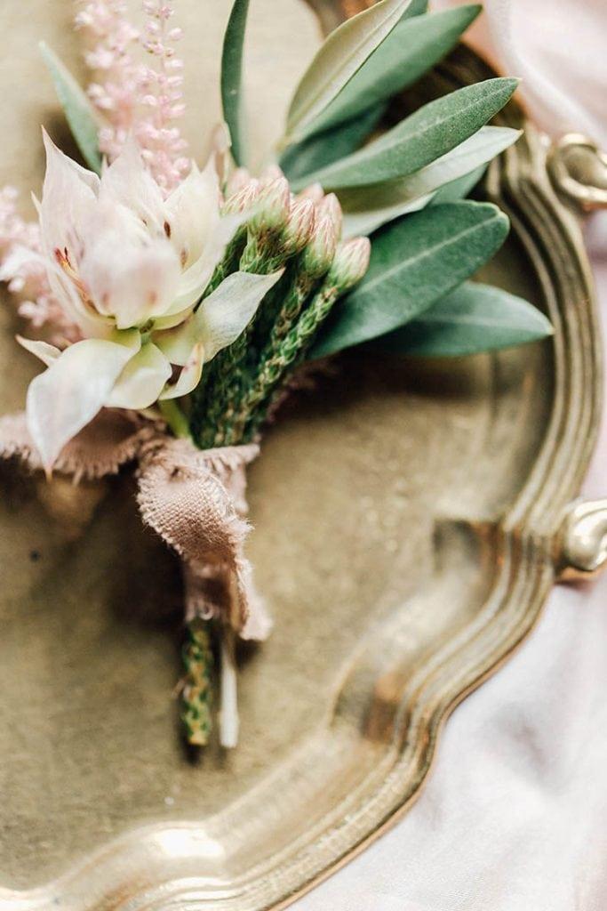 Villa Catureglio Tuscany Wedding Boutonniere Detail