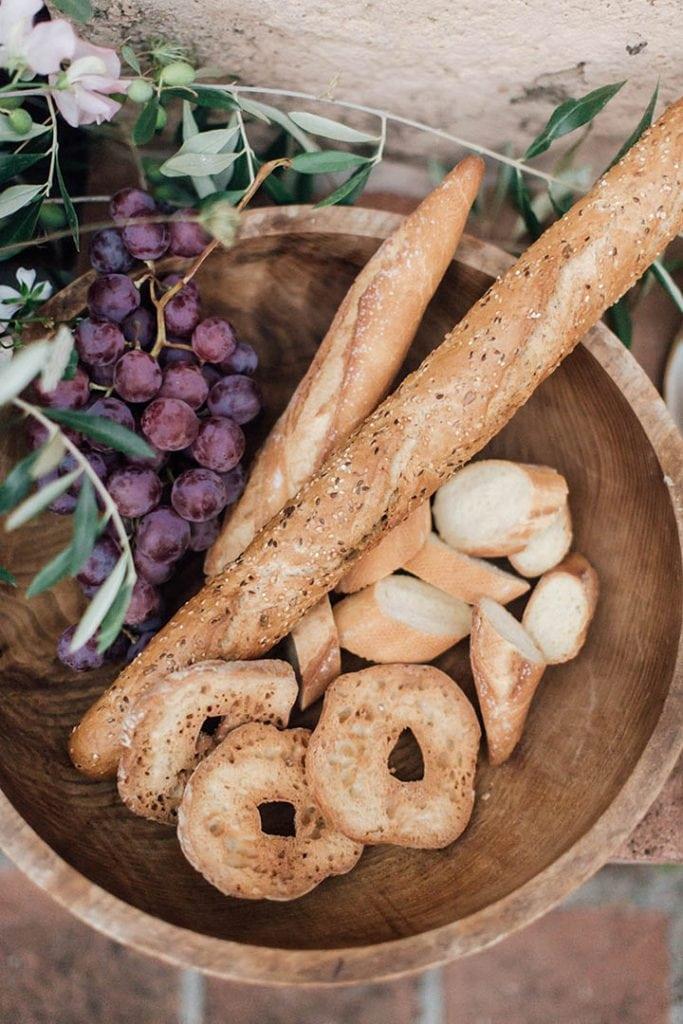 Villa Catureglio Tuscany Wedding Bread