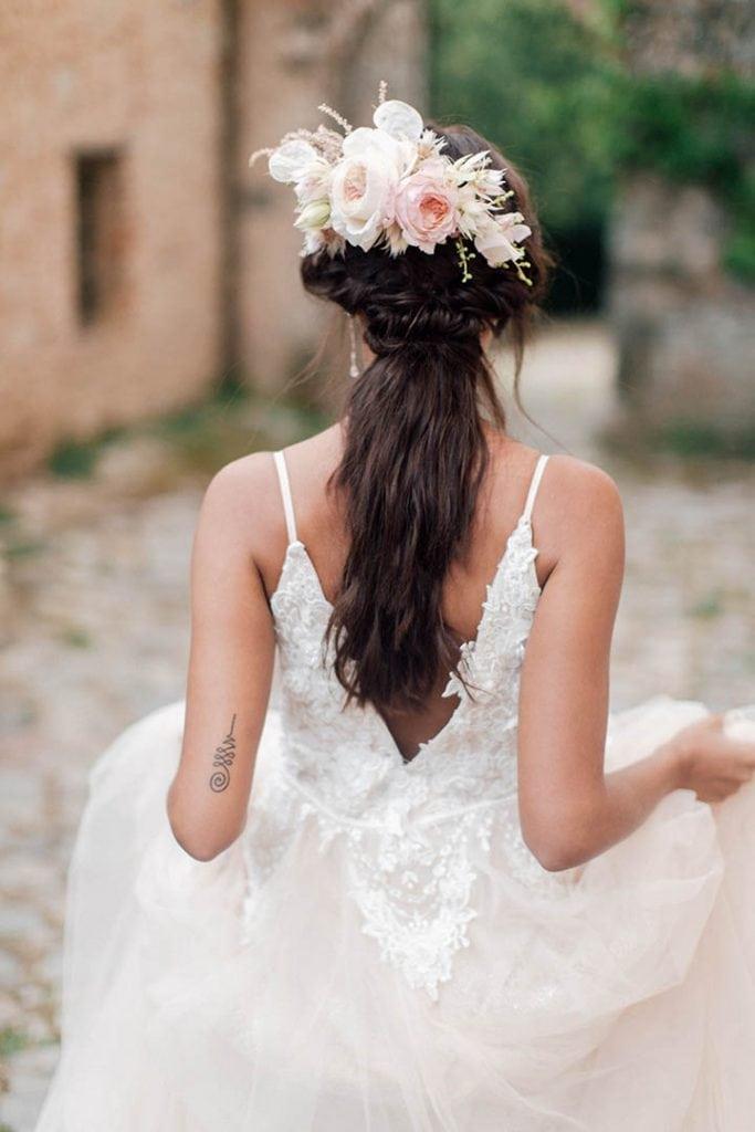 Villa Catureglio Tuscany Wedding Bridal Hairstyle