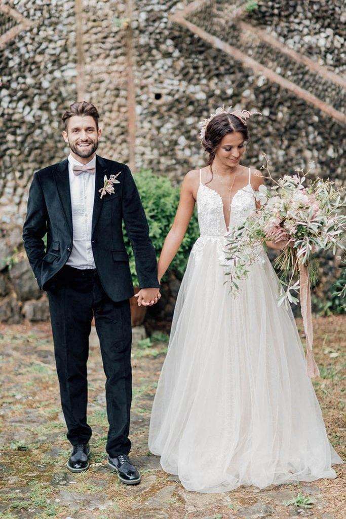 Villa Catureglio Tuscany Wedding Bride Groom 2