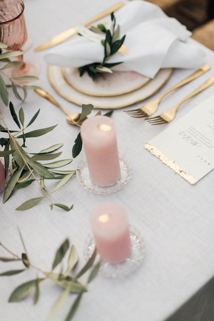 Villa Catureglio Tuscany Wedding Candles