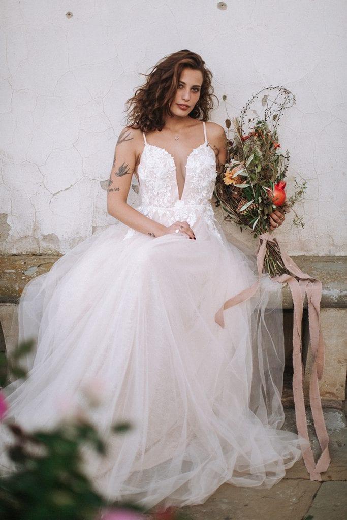 Toskana bride bridal flowers hochzeitskleid blumen