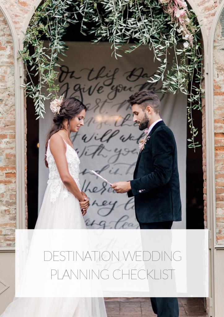 checklist destination wedding