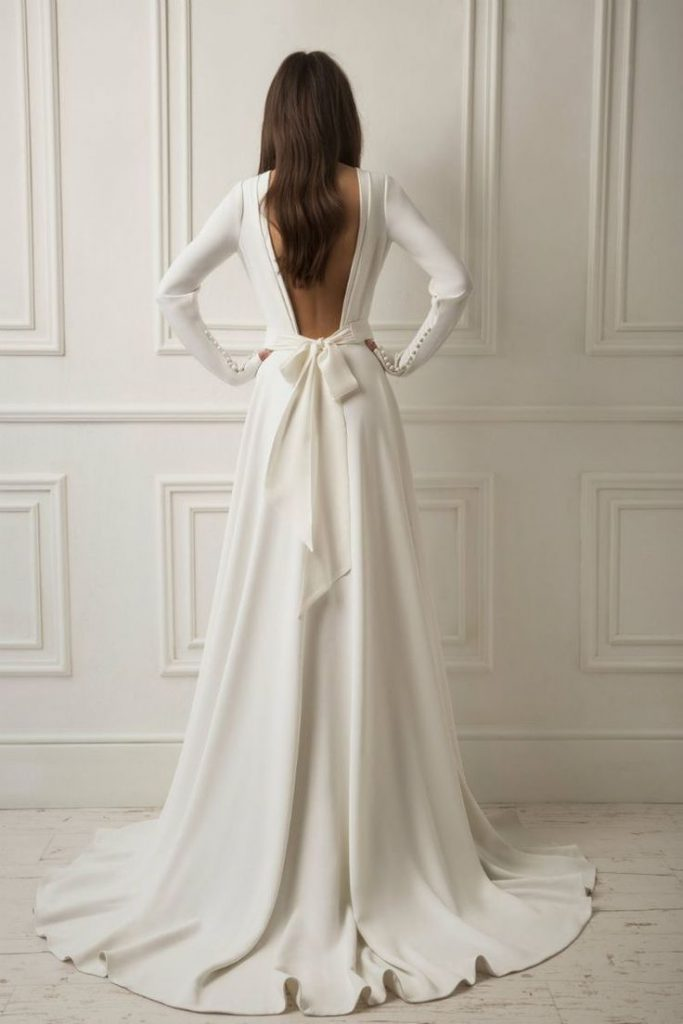 wedding dress, bridal dress, lihi hod wedding trends, wedding trend 2019, bridal dress with a bow