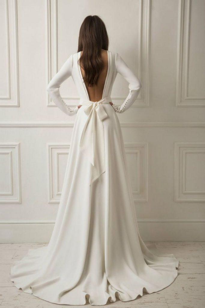 wedding dress, bridal dress, lihi hod wedding trends, wedding trend 2019, bridal dress with a bow
