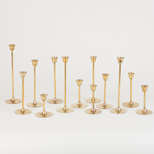 candleholder in gold, candlestick in gold