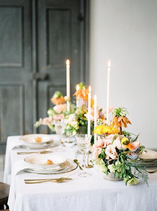 Magnolias On Silk Schloss Hemhofen Wedding Table Decoration