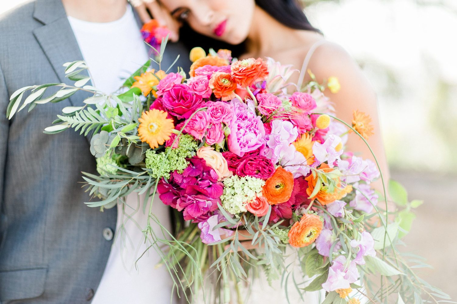 colorful bridal bouquet, farbenfroher Brautstrauß, bunter Brautstrauß
