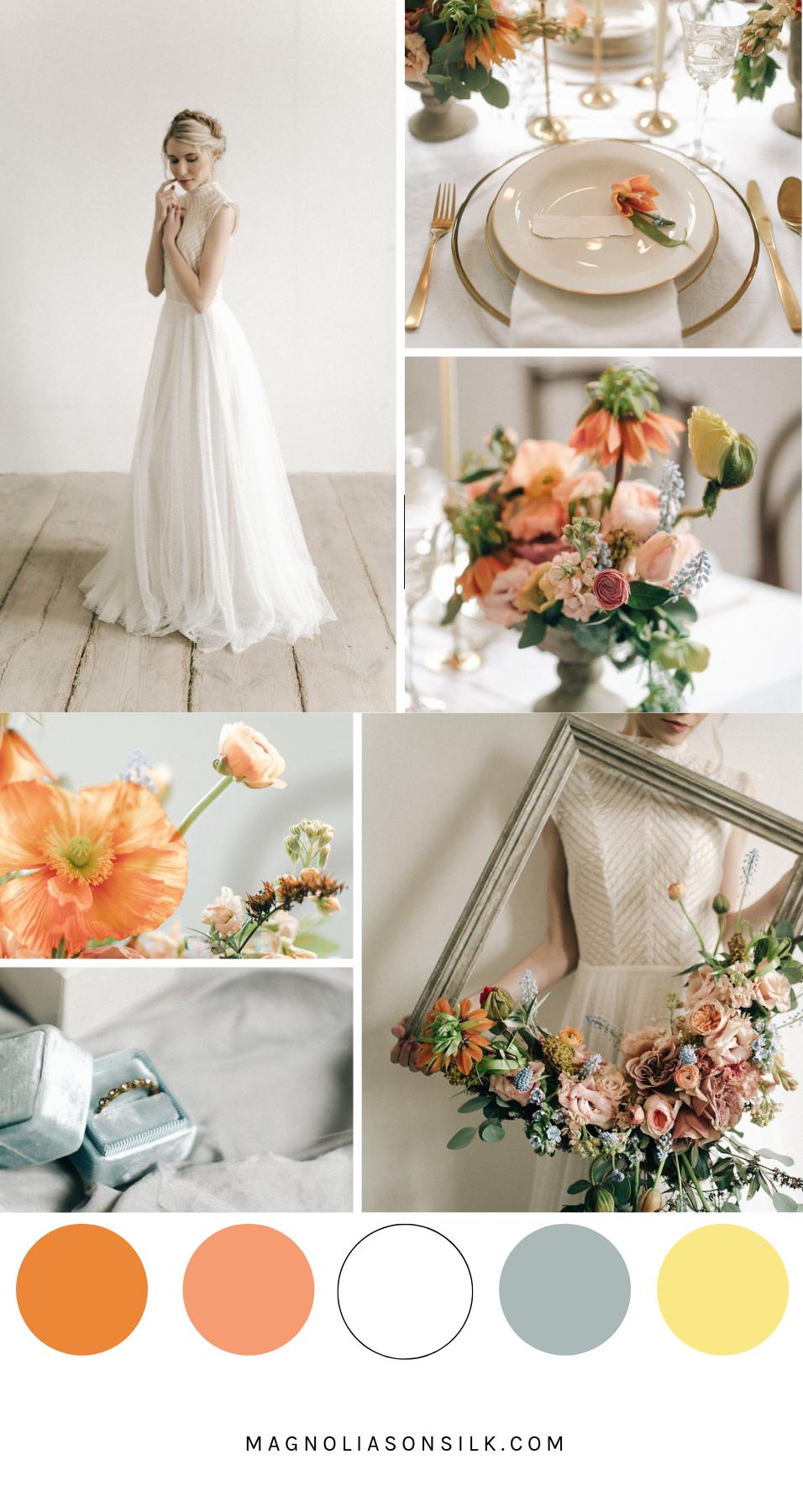 moodboard spring wedding color palette