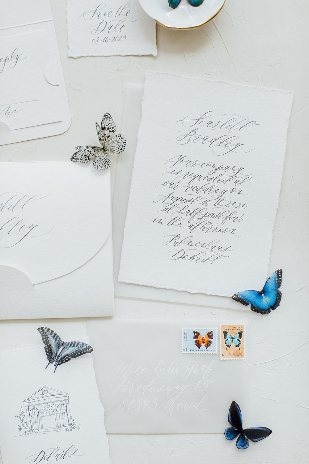 wedding stationery, wedding calligraphy