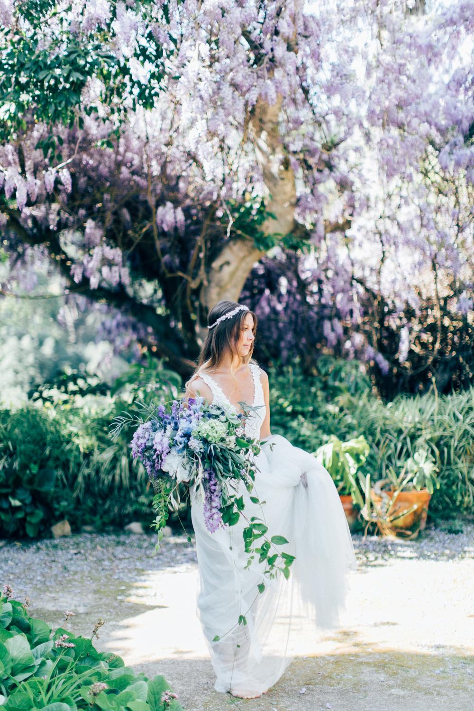 bride, wedding dress, white wedding gown, bridal bouquet