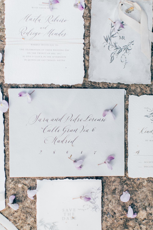 wedding stationery, wedding calligraphy, white envelopes for wedding invitations