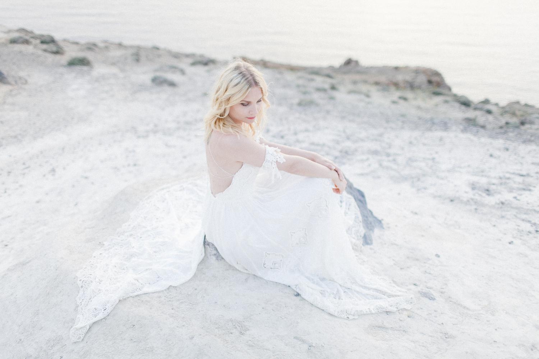 beach wedding, santorini beach wedding, elope in greece