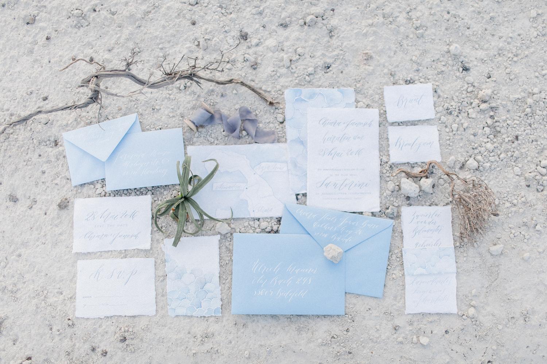 wedding stationery, wedding calligraphy, wedding invitations, blue wedding, beach wedding