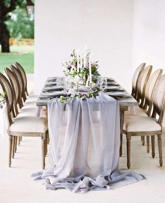 chiffon table runner, wedding table, wedding table decoration