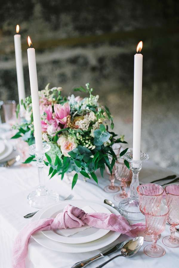 table decoration, dusty pink wedding table