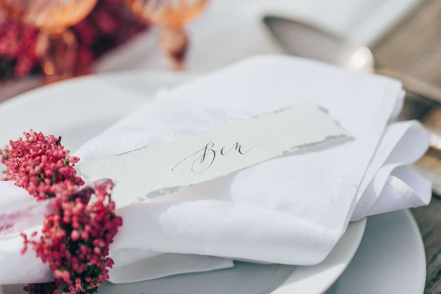 wedding details, table decoration, napkin ring