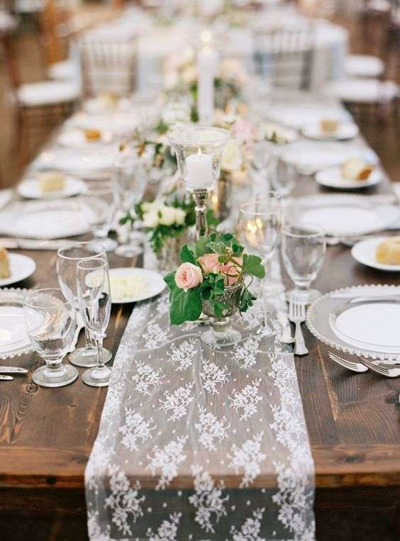 lace table runner, wedding table decoration, wedding table