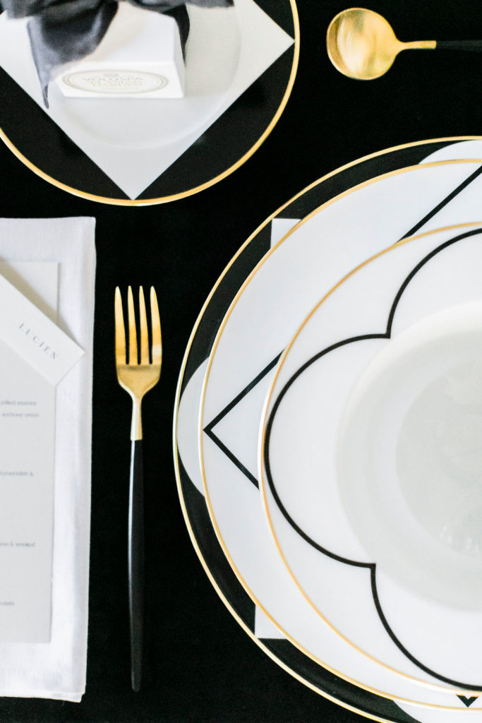 black velvet table cloth, black and white wedding inspiration, wedding table scape