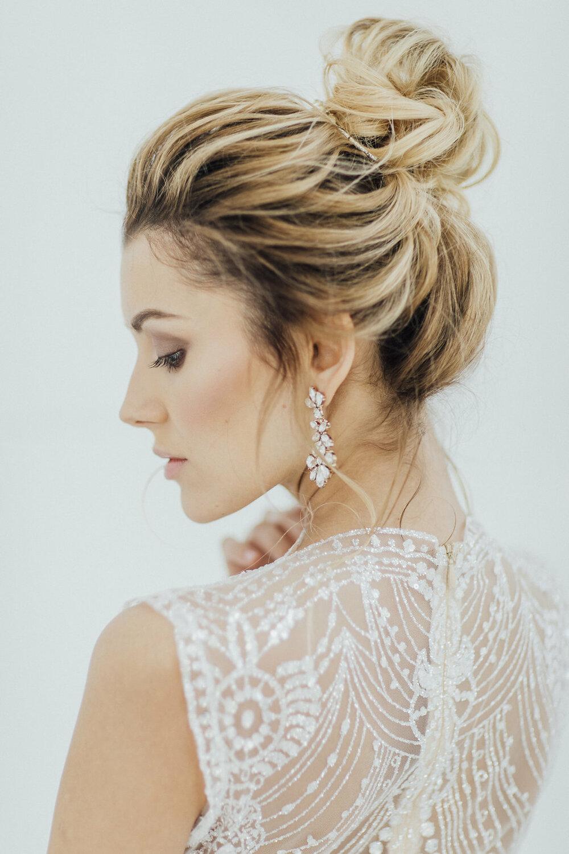 bridal hair, wedding hairstyle, elegant updo