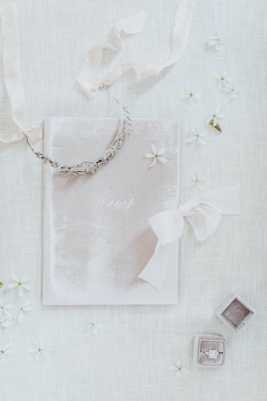 wedding vow books, wedding details, wedding ring box, velvet wedding