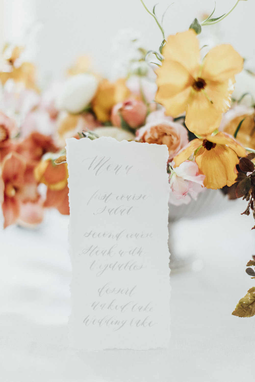 wedding stationery, wedding calligraphy