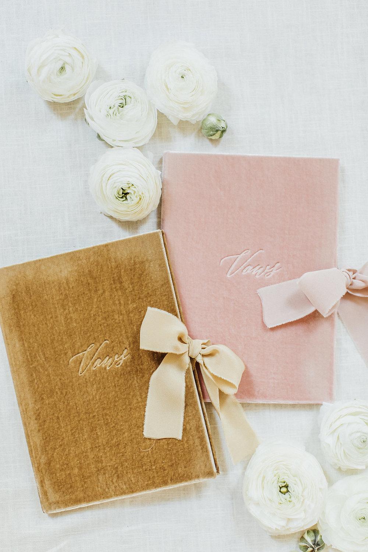 wedding vow books, velvet vow books