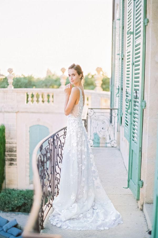 bridal dress, wedding gown, bride, chateau de tourreau