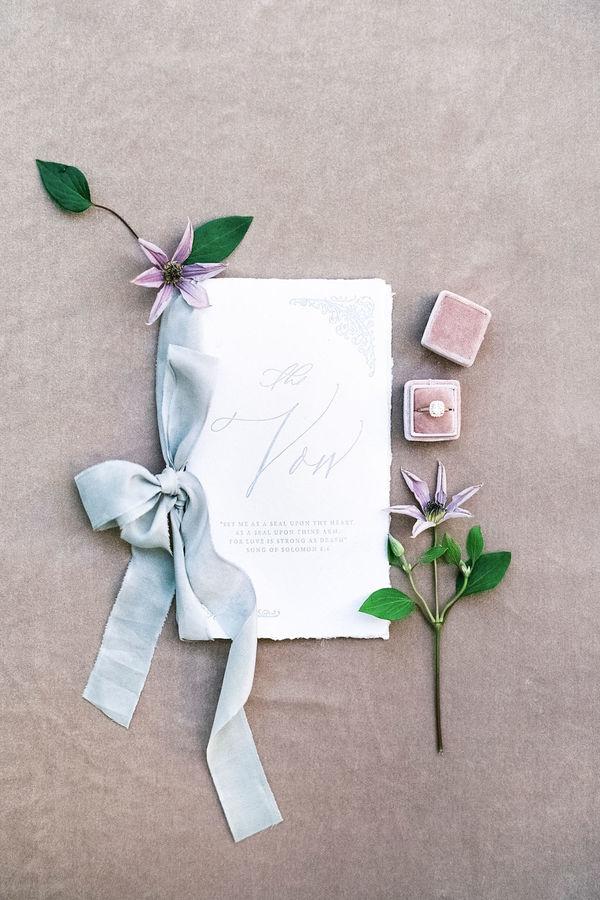 wedding vows, wedding stationery, wedding details