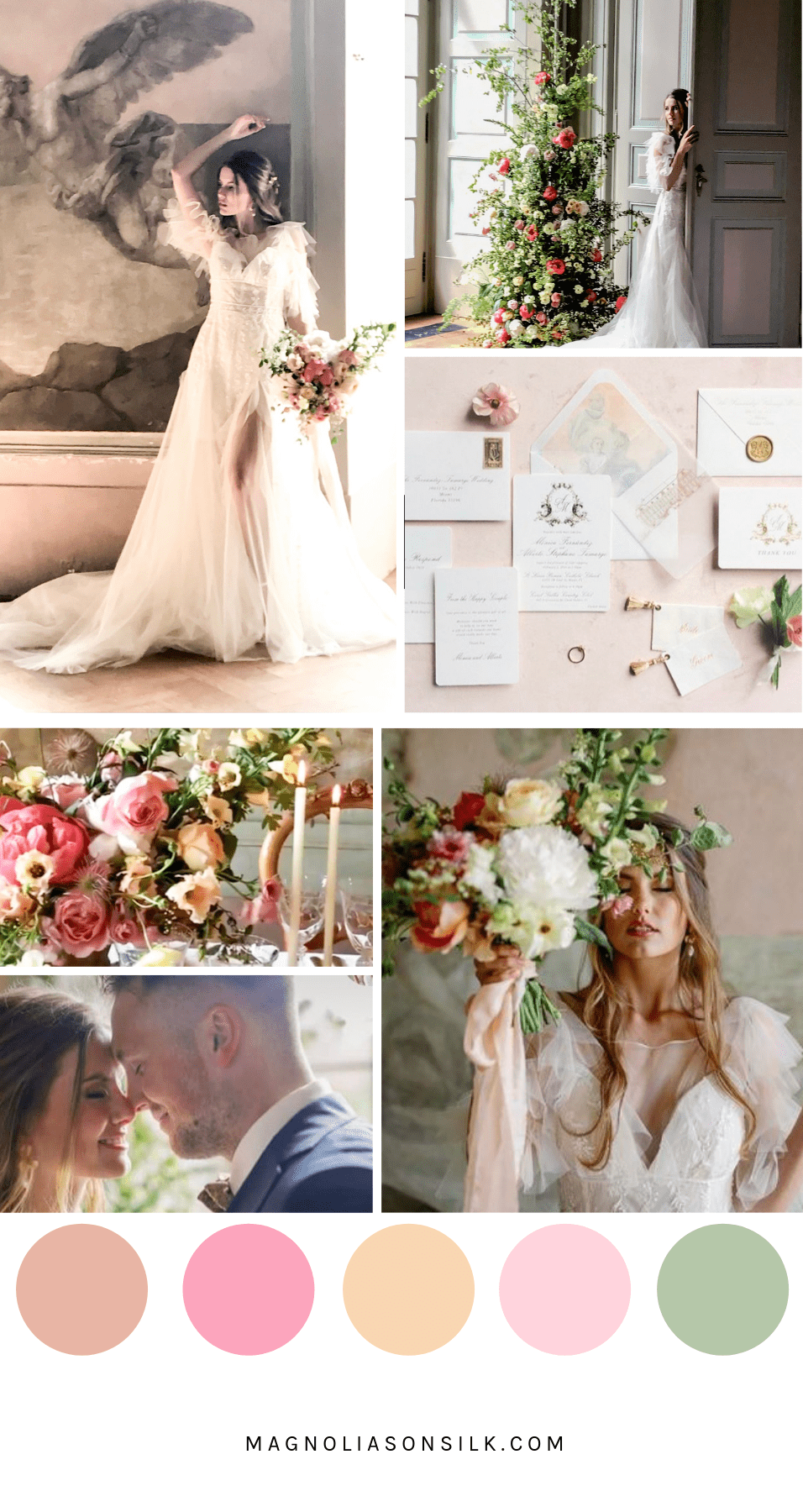 blush summer wedding color, summer wedding, pink and blush wedding scheme