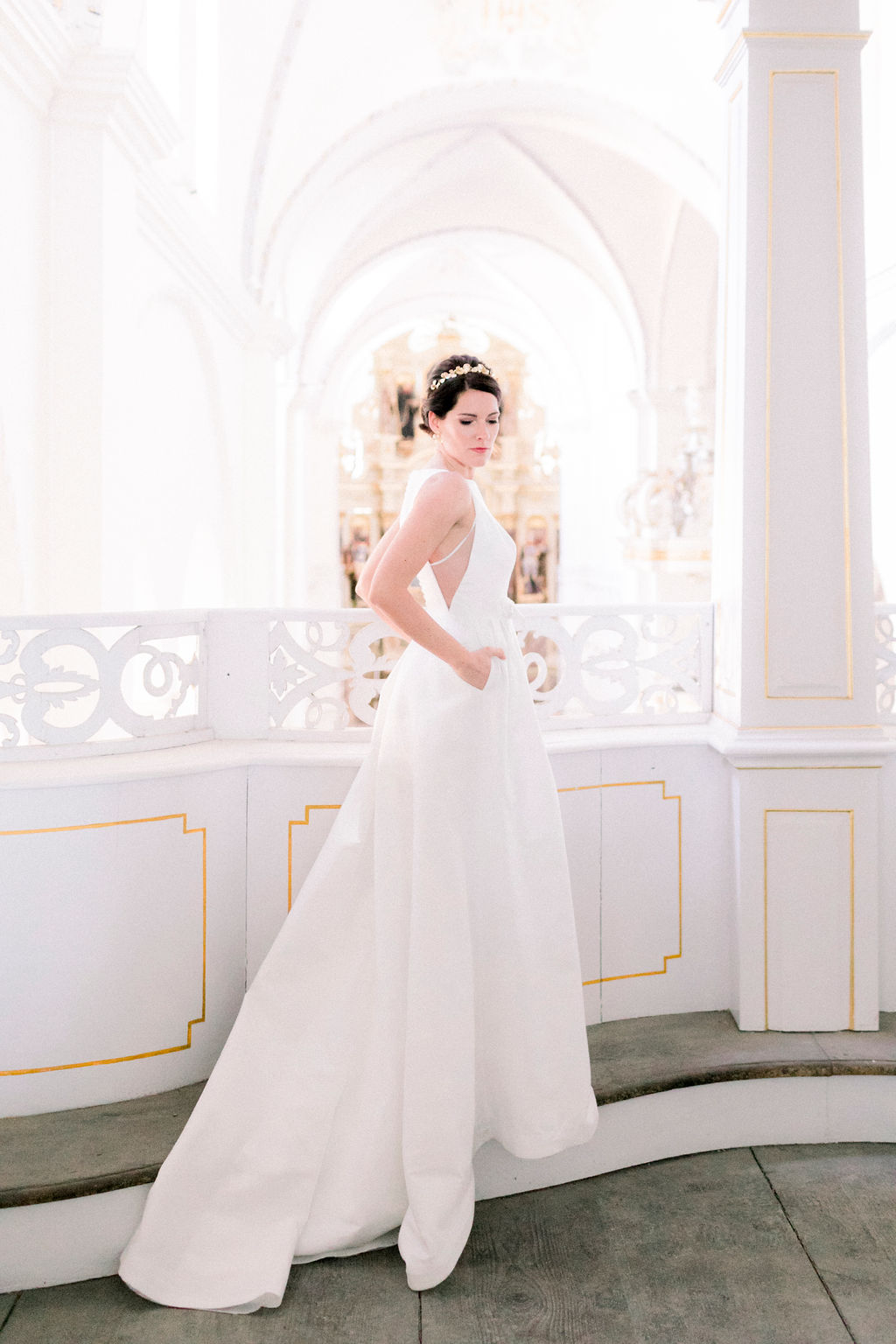 bride, white wedding dress, minimalist wedding, religious wedding