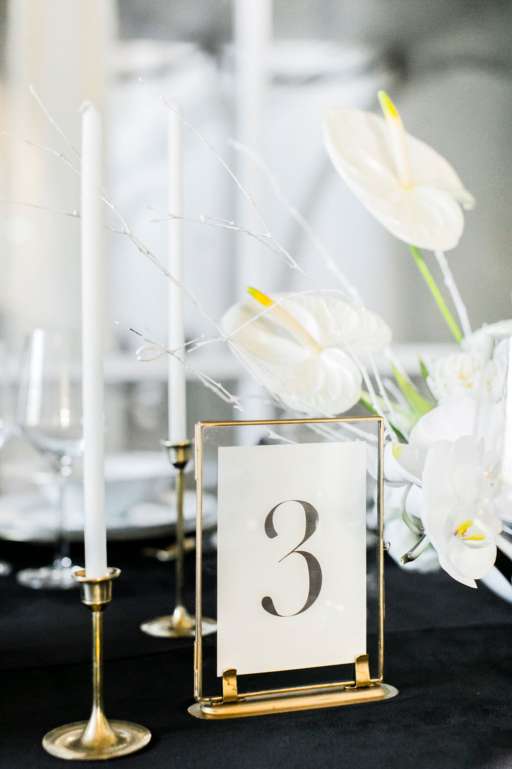 black-white-wedding-table-number-frame