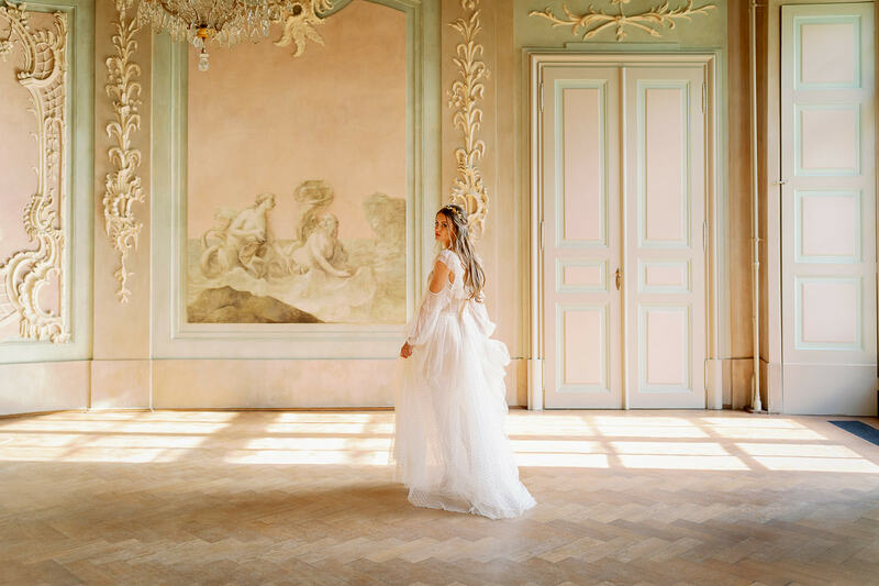 schloss nieschwitz wedding, castle wedding, bride
