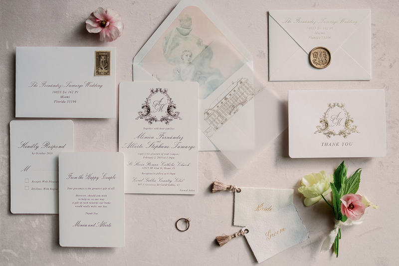 wedding stationery, white and gold wedding stationery