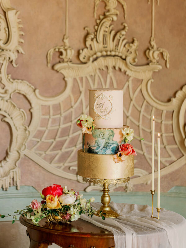wedding cake, castle wedding cake, three tier wedding cake