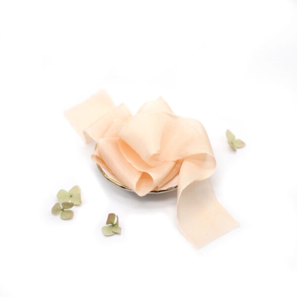Silk-and-Linen-seidenband-pfirsich-silk-ribbon-peach
